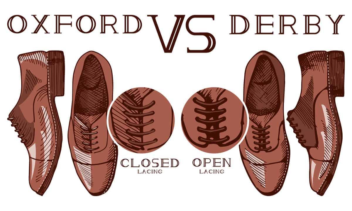 Oxford vs Derby formal shoes for men