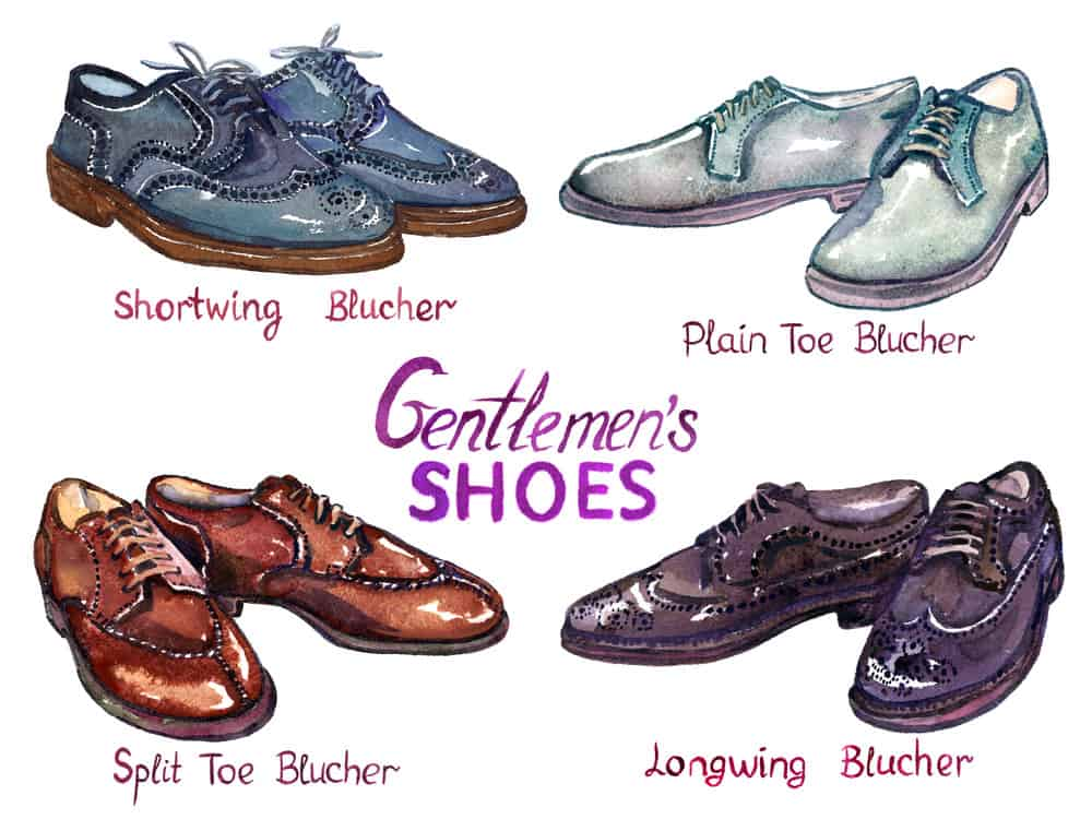 Types of Blucher shoes for men