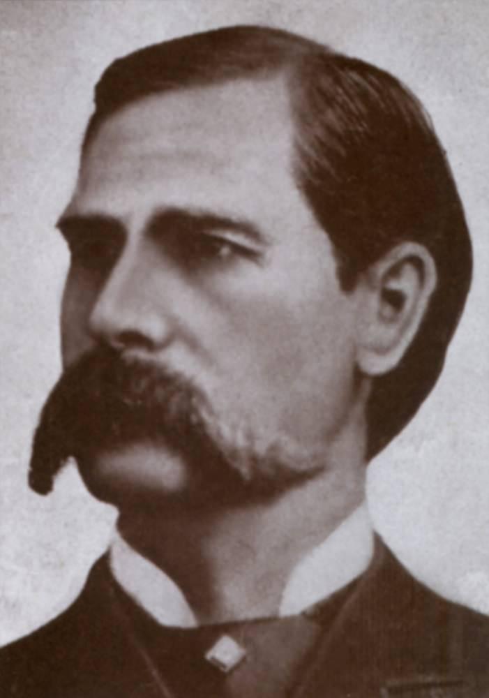 Photo of Wyatt Earp with huge mustache