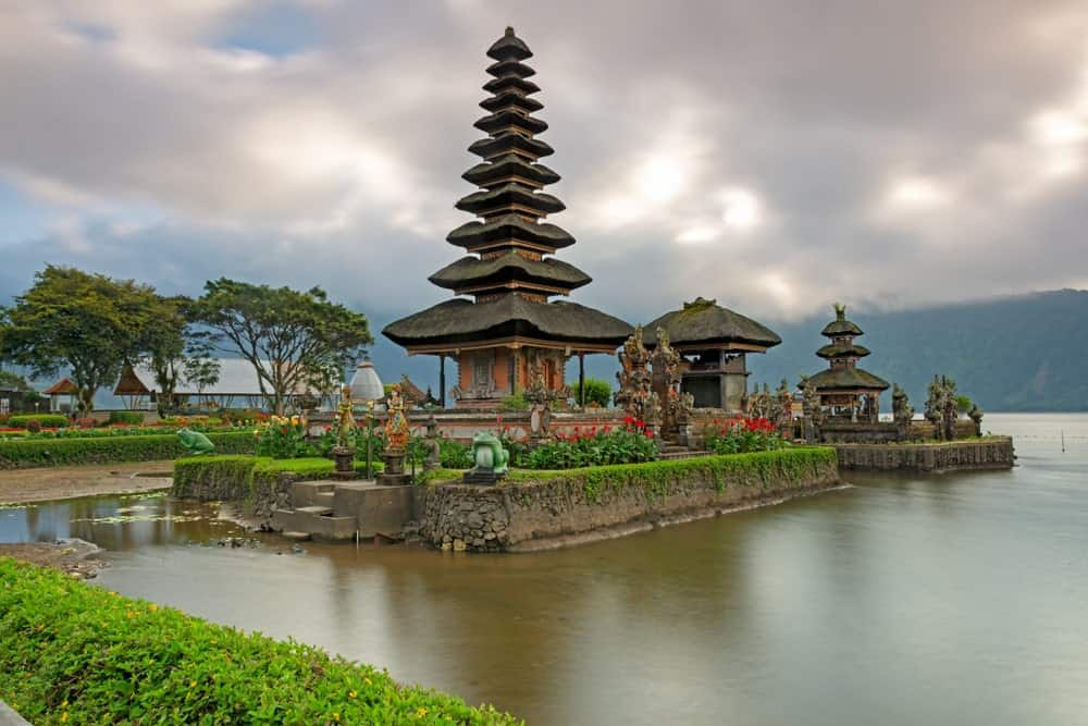 Popular temple in Bali, Indonesia.