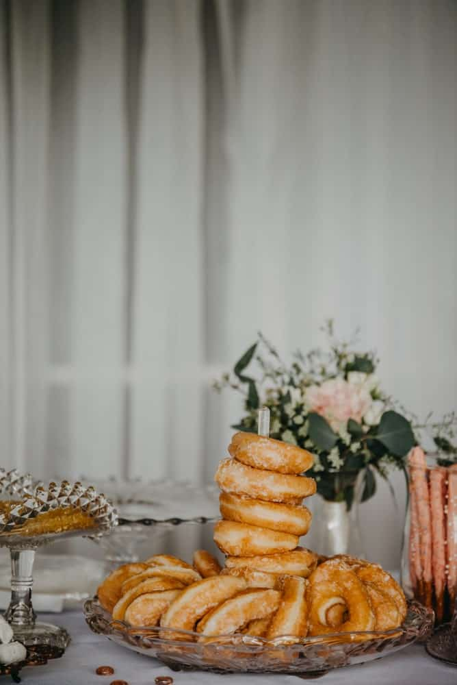 Donuts on a wedding ceremony.