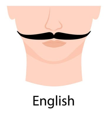 English style moustache