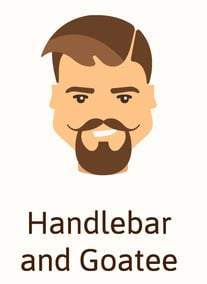 Handlebar and goatee