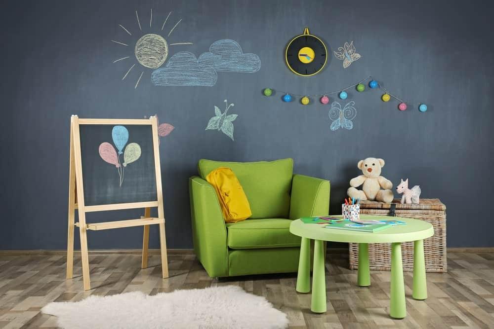 Chalkboard inside a kid's room