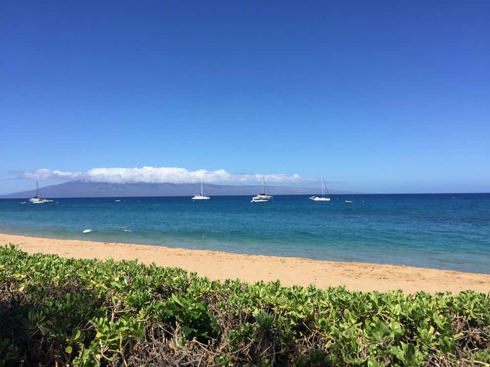 Kaanapali beach near Honua Kai resort on Maui.