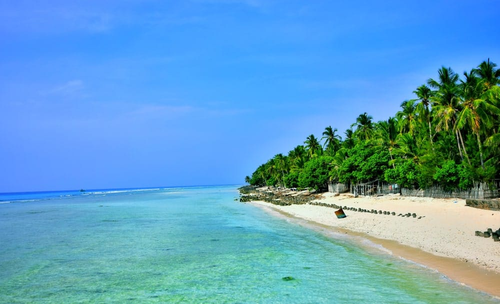 Beach in Lakshadweep Islands, India.