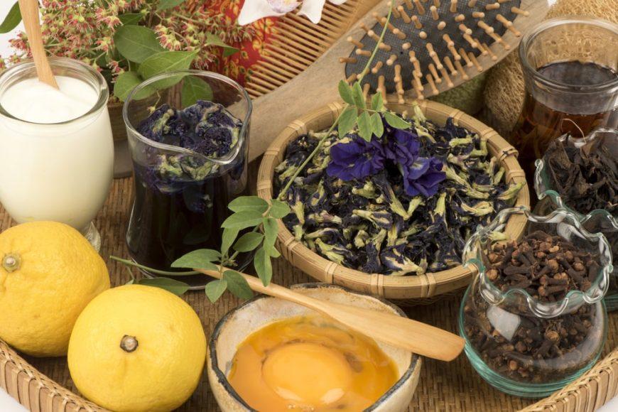 Natural hair dye options as alternative to chemical hair dye