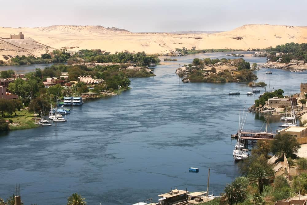 Panorama of the Nile River.