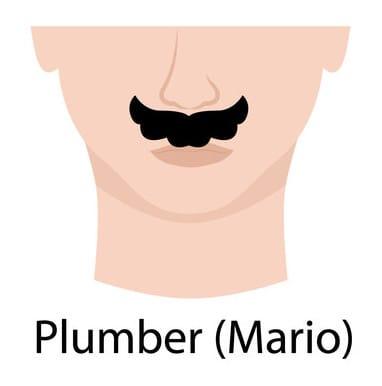 Plumber style moustache (aka Mario moustache)