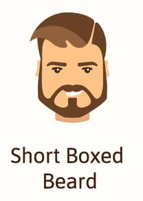 Short boxed beard