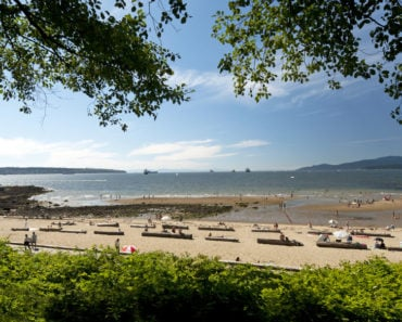 Panoramic view of Third Beach in Vancouver, BC (in Stanley Park)