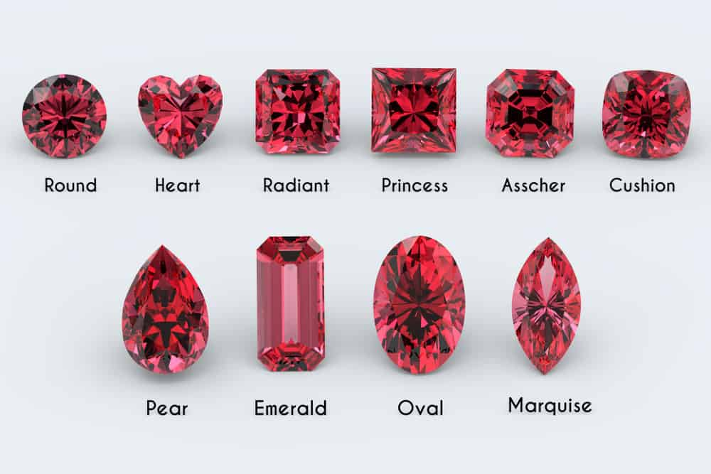 10 popular ruby shapes and cuts (Chart)