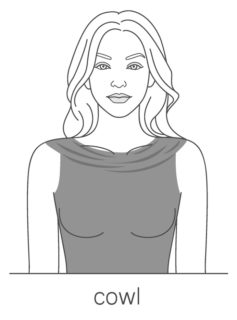 Cowl top neckline