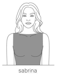 Sabrina top neckline