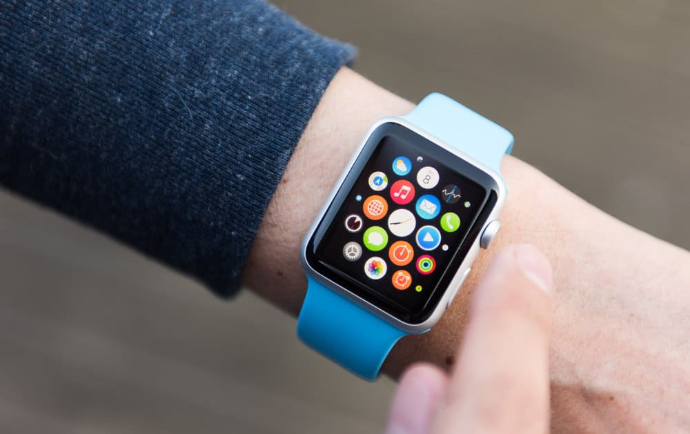 Apple Watch set of apps on screen