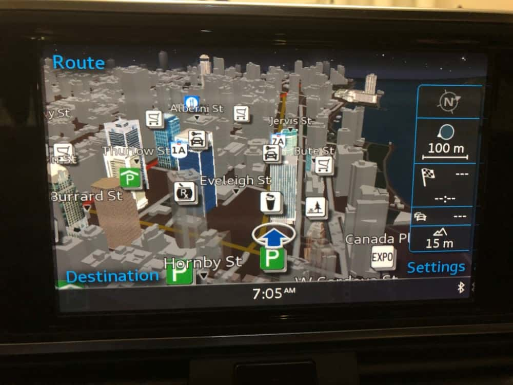 Audi A7 GPS navigation map