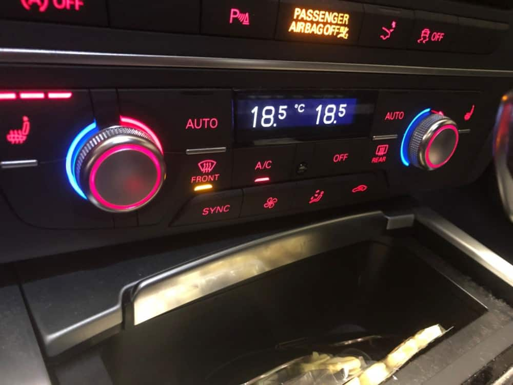 Audi A7 Temperature Controls