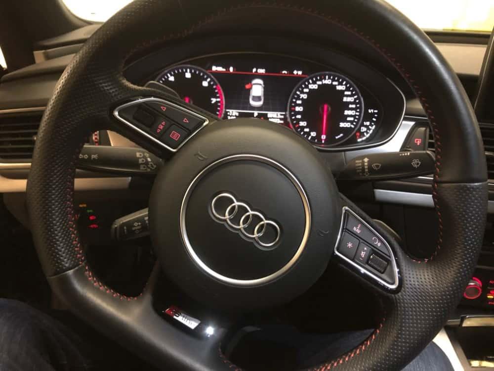 Audi A7 steering wheel