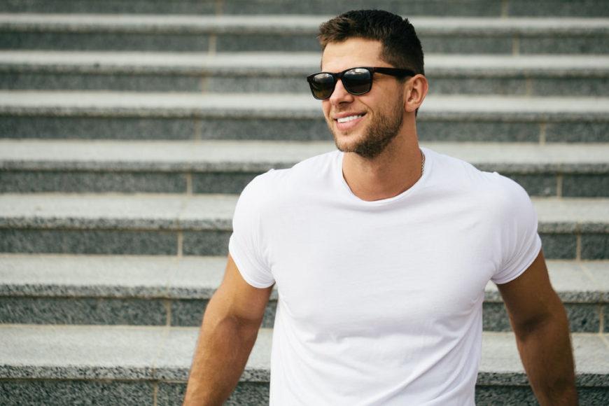 Cool guy wearing white t-shirt