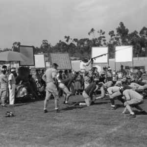 Football movie being filmed