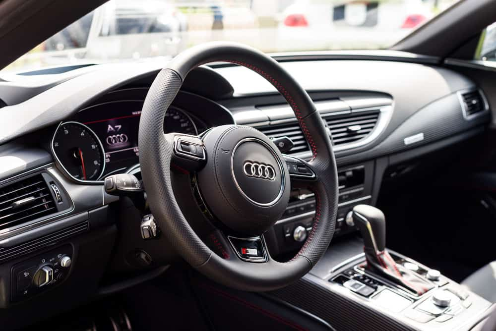 Interior photo of an Audi A7 dashboard