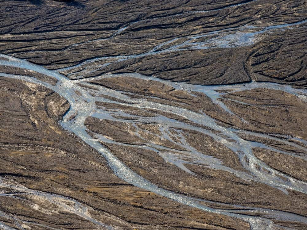 Braided river in Denali National Park.