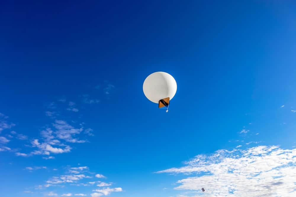 Ceiling balloon in the sky