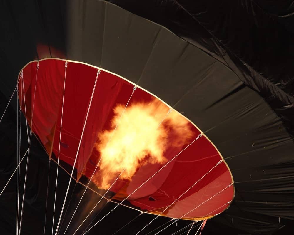 Interior peek of a hot air balloon