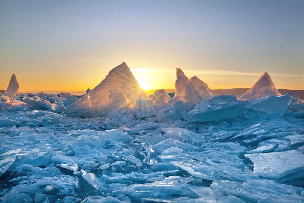 Lake Baikal in Siberia.
