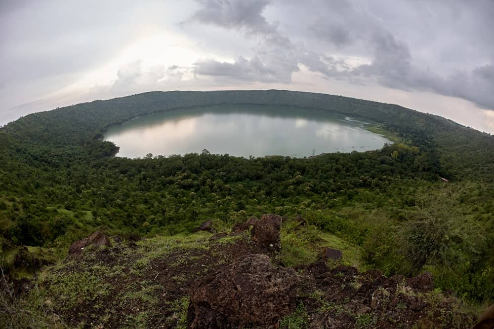 Lonar crater lake in India