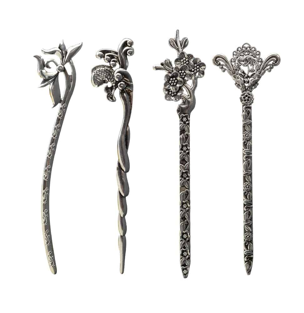 Decorative metal hairpins