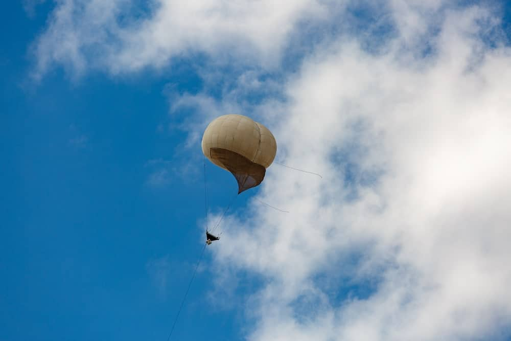 Observation balloon in the sky