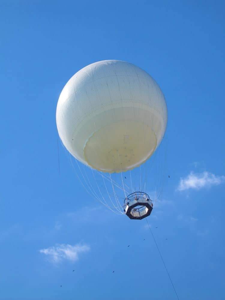 Research balloon in the sky