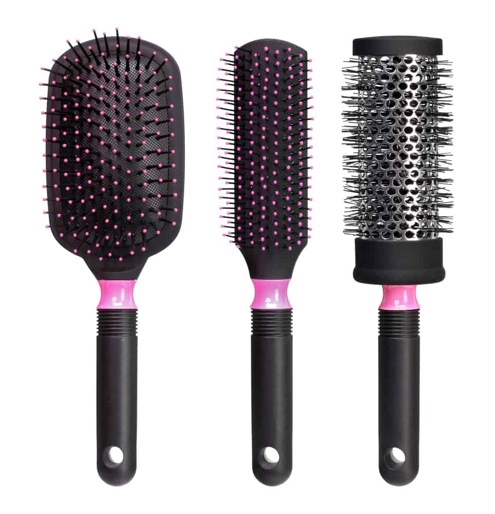 A set of hairbrushes