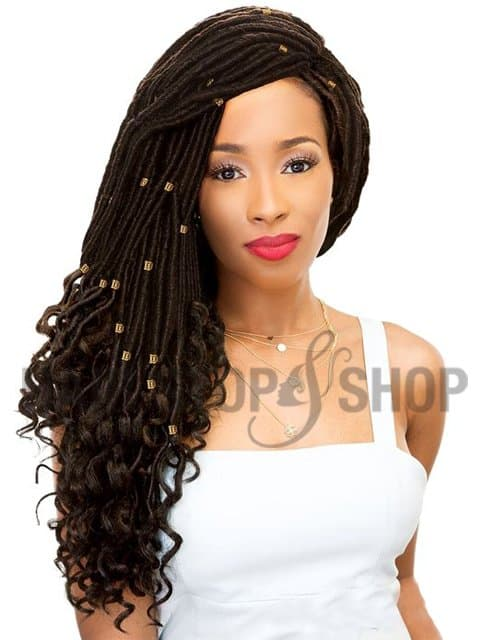 Straight crochet hair