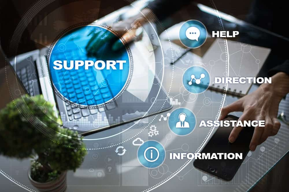 Technical support concept and features.