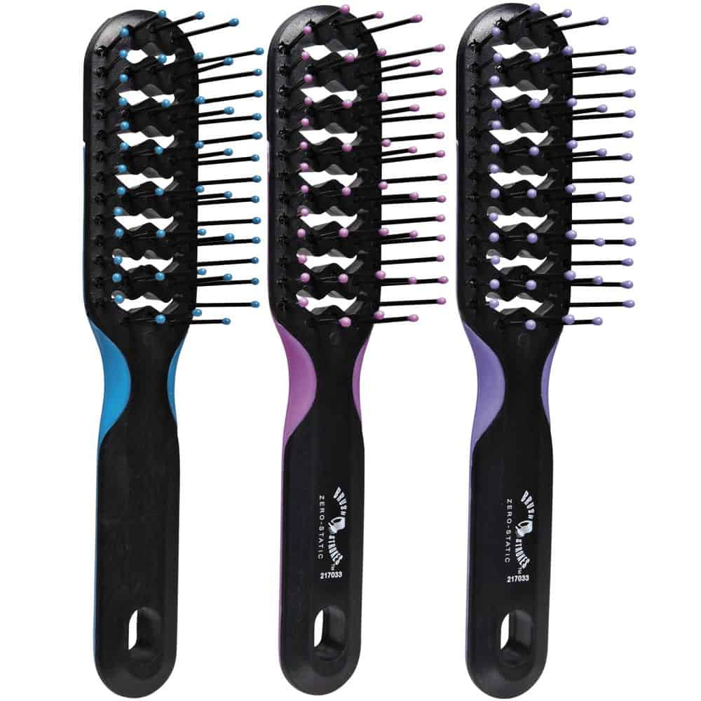 Vented hairbrushes
