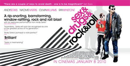 Sex drugs rock roll movie poster