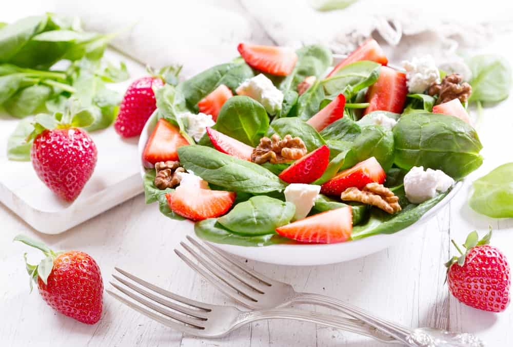 Allstar Strawberries on a Salad