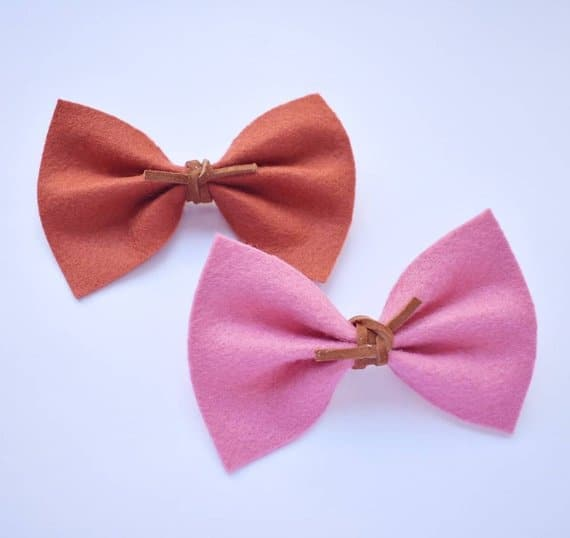A pair of felt bows.