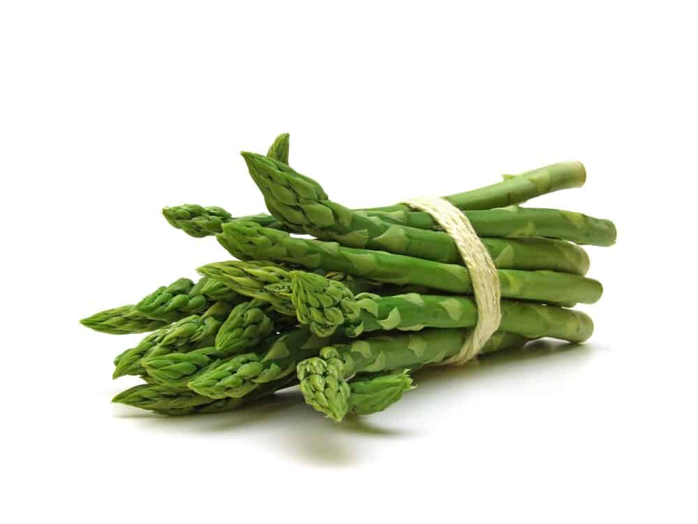 Green asparagus in a bundle