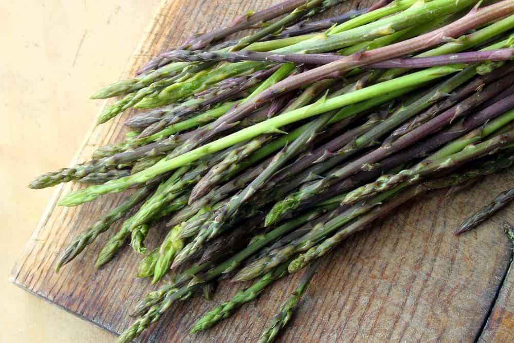 Wild asparagus in a bundle