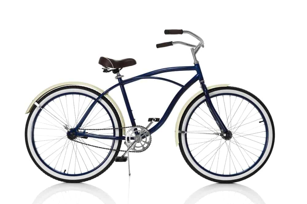 A Blue Cruiser Bike