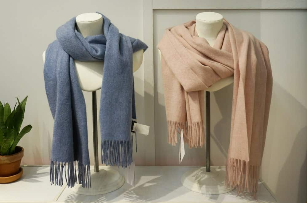 shawls in a shop
