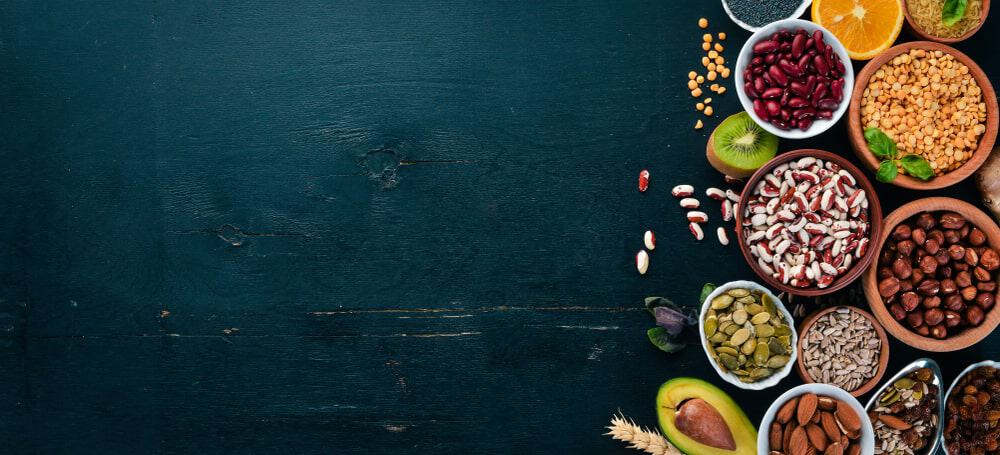 Superfoods lying on the table