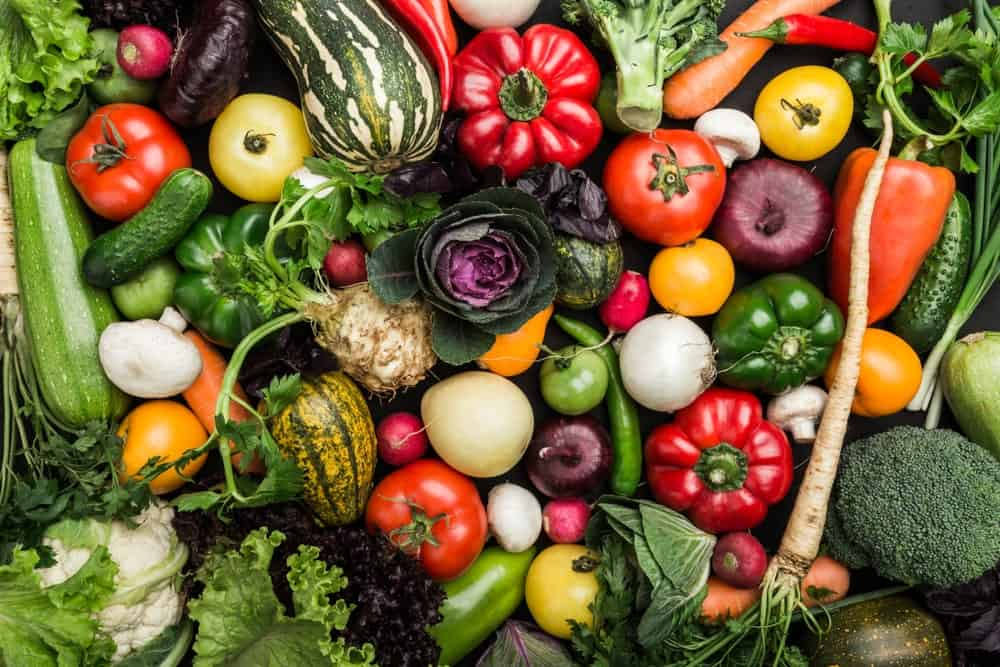 Fresh and healthy vegetables assembled together