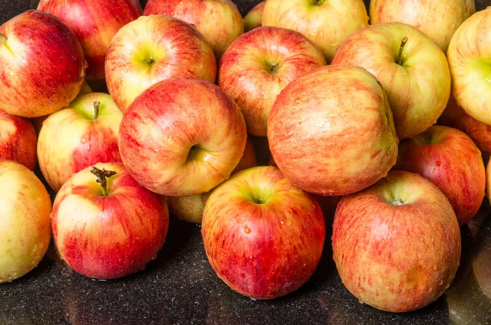 A bunch of Jonagold apple