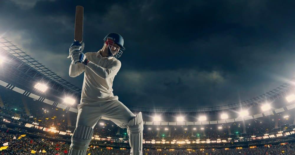 Cricket match in progress