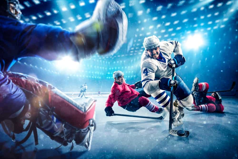Ice Hockey match intensifies