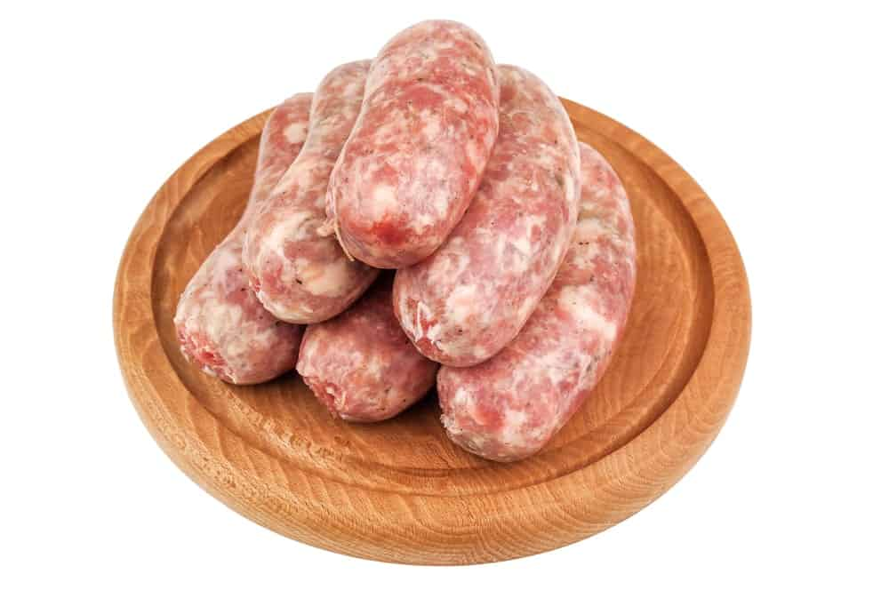 stacked Italian sausage